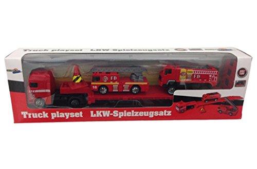 feuerwehrkran spielzeug T676X LKW Spielzeugsatz von Gearbox 1:64 1x Truck + 2 Fahrzeuge (Feuerwehr 1)