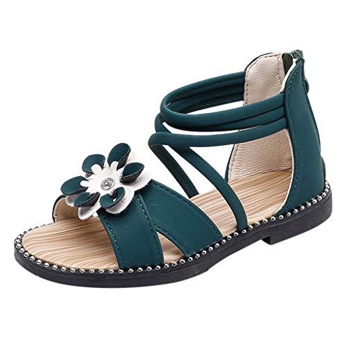 SUCES Babyschuhe Sandalen Kleinkind Säuglingskinderbaby beiläufige einzelne Blume Reißverschluss Schuh Segeltuch Schuhe Freizeitschuhe Krabbelschuhe Strandschuhe Römischen Sandalen