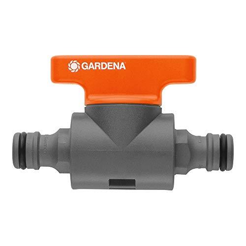 Gardena Kupplung mit Regulierventil: Schlauchkupplung zum Regulieren oder Absperren des Wasserdurchflusses im Schlauchverlauf, Reichweitenbestimmung von Regnern, verpackt (2976-20)