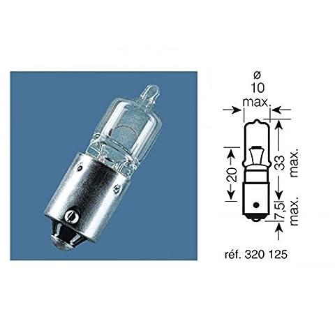 Boite 10 ampoules 12v-21w / temoins culot bay9s - Osram 320125