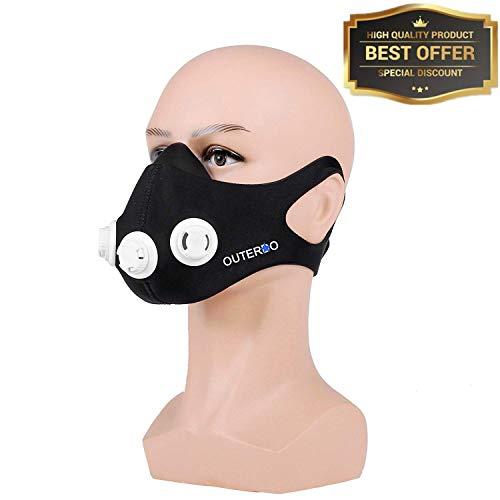 OUTERDO Sport Mask Atemmaske Fitness Maske