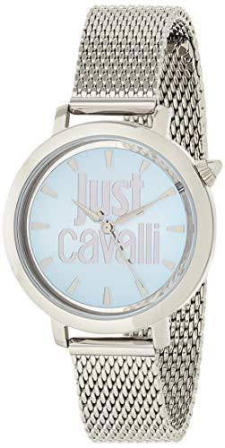 Just Cavalli Reloj Analogico para Mujer de Cuarzo con Correa en Acero Inoxidable JC1L007M0055