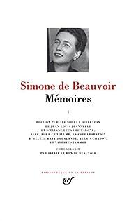 Mémoires par Simone de Beauvoir