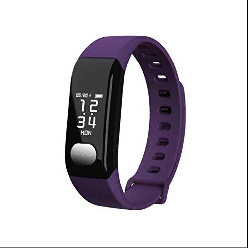 Kamera Persönliche überwachung (Bluetooth Smart Watch Fitness Tracker Uhr Armband Schrittzähler Monitor Sport uhrDynamic Level Herz Rate Monitoring Blutdruck messen Schlaf-Monitor HD-Foto SMS Facebook Vibration Sport-Armbanduhr)