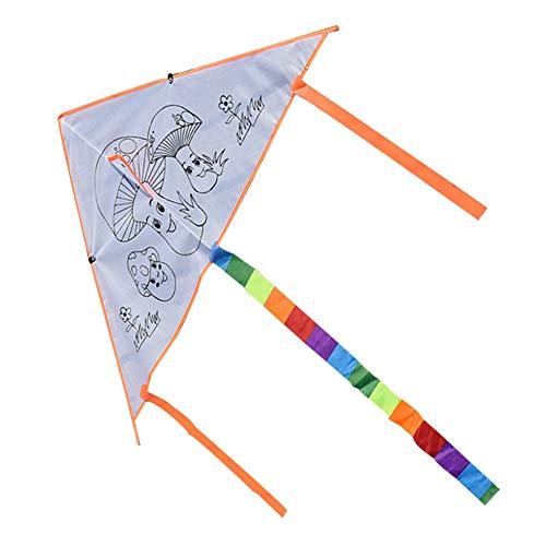 Secvbg fai da te bambino doodle aquilone outdoor fun sports colorare aquiloni bianco aquilone giocattoli educativi regali di compleanno bambini aquilone giocattoli per i bambini