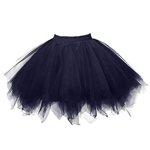 Luckycat Tüllrock Ballettrock Tutu Petticoat Vintage Partykleid Unterkleid Damen Falten Gaze Kurzer Rock Erwachsene Tutu Tanzender Rock Ballklei Abendkleid Zubehör für Frauen Mädchen