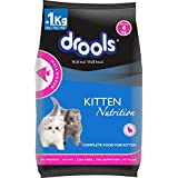 Drools Kitten(1-12 Months) Dry Cat Food, Ocean Fish, 4kg (3kg + 1kg Food Free Inside)