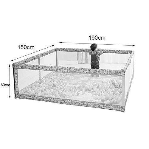 Playpens Large, Indoor Outdoor Playyard, Safety Activity Centre Play Yard, Children/Toddler/Boy/Girl, 150×190×60cm  MMDP