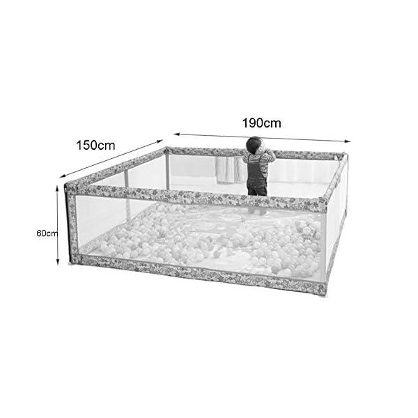 Playpens Large, Indoor Outdoor Playyard, Safety Activity Centre Play Yard, Children/Toddler/Boy/Girl, 150×190×60cm Playpens  2