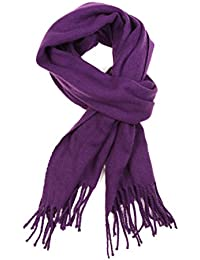 Sakkas Booker Kaschmir fühlen feste farbige Unisex Winter-Schal mit Fransen