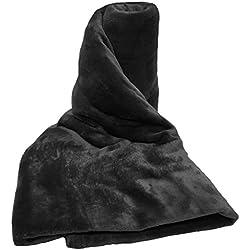 A-Express Grande Suave Caliente visón Piel sintética Manta la Cama sofá Coche Viaje Mantas - Negro 125cm x 150cm