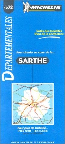 Carte routière : Sarthe, 4072, 1/150000