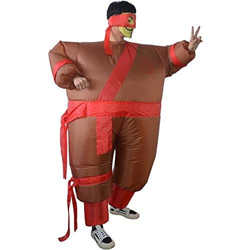 JZG Ninja Aufblasbare Kostüm Anzug Halloween Kostüm Für Erwachsene Kostüm Party Kleidung Anzug Lustige Klassische Halloween Kostüme Für Männer (Farbe : for 150-195cm) (Anzüge Aufblasbare Günstige)