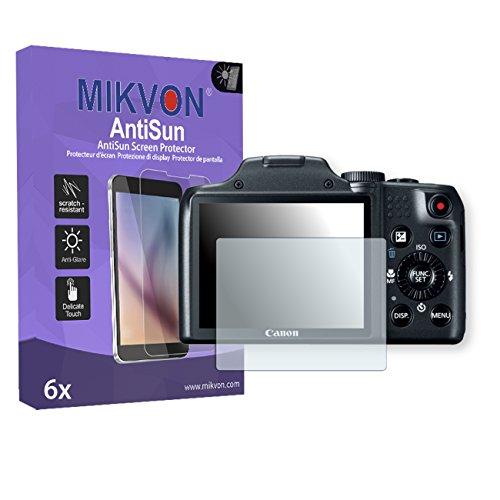 6x-mikvon-antisun-pelicula-proteccion-de-pantalla-canon-powershot-sx170-is-protector-de-pantalla-emb