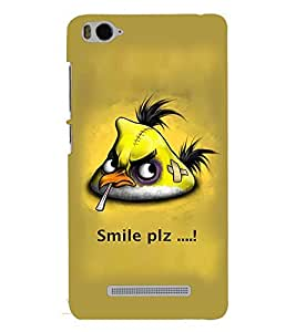 Fuson Premium Smile Please Printed Hard Plastic Back Case Cover for Xiaomi Mi 4C