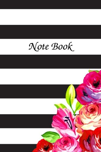 Note Book: Write Note And Plans Memory Memo Journal Black Line Flora