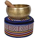 Tibetano, mano, martillado, meditación, canto, cuenco, correspondencia, étnico, bolsa Para la relajación, la curación y atención plena (jamón medio) (B41)