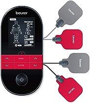 Beurer EM 59 Elettrostimolatore TENS/EMS con Funzione Calore: Terapia del Dolore senza Farmaci e Rafforzamento