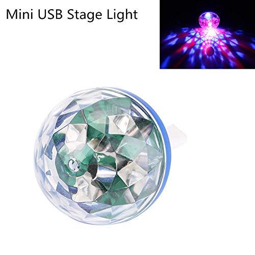 Nacht Licht Txxzn Mini Disco Light Party Home Dekorationen Kristall Magie Ball Effekt Bühne Lampe Disco Lampe Mit Android/apfel Usb Adapter USB-Bühnenlicht