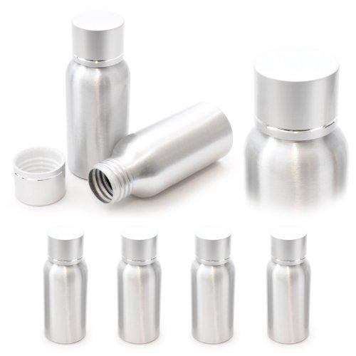 Set di alluminio fiala 50ml, da viaggio dispenser con tappo a vite, colore: argento–marca ganzoo