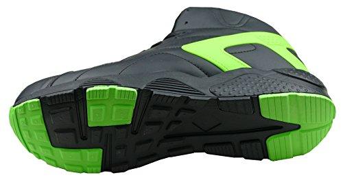 gibra Chaussures de Course Pour Homme Schwarz/Neongrün
