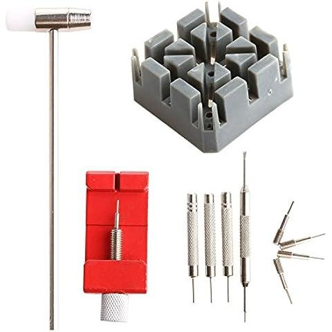Kumon 11Watch Band Link Pin Set di attrezzi con custodia in metallo apribottiglie