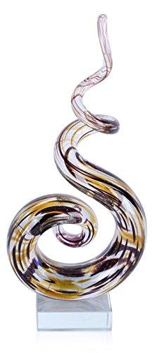 Home-design-glas-skulptur (levandeo Designer Skulptur aus Glas - Design - Sehr Hochwertig - Handarbeit - Exklusives Unikat Glasskulptur)