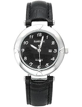 JSDDE Uhren,Elegant Damen Armbanduhr Kalenderuhr Klassisch Echtleder Band Damenuhr Analog Qaurzuhr Business Uhr...