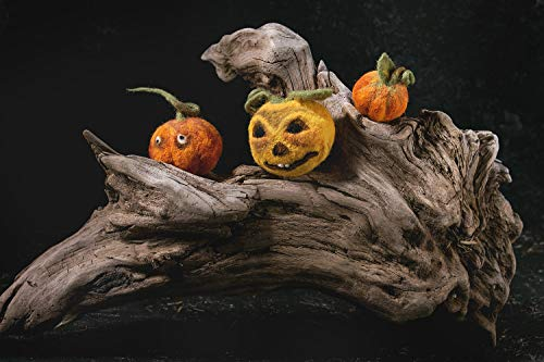 Set von Kürbis Deko Nadel gefilzt Kürbis Halloween Kürbis Gesicht Herbst Herbst Dekoration Nettes Kürbisgesicht