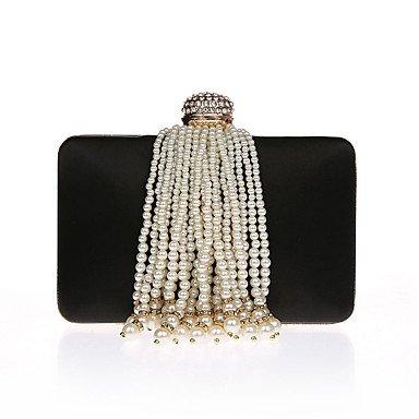 pwne L. In West Frauen'S Fashion Luxus High-Grade Imitation Pearl Quaste Abend Tasche Black