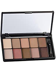 Professional Makeup 10 Warm Color Matte Eyeshadow Palette Neutral Nude Eyeshadow