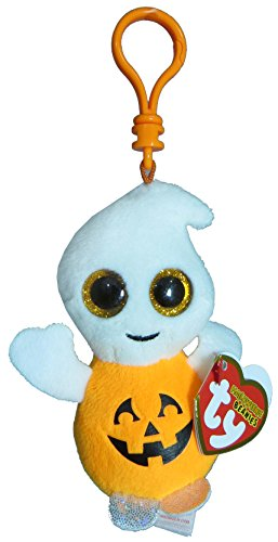 Beanie Boo Ghost - Key clip - Pumpkie - 7.5cm 3""
