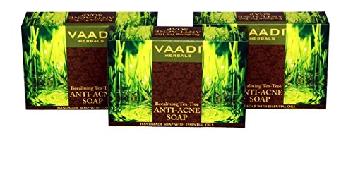 Vaadi Herbals Becalming Tea Tree Soap Anti Acne Therapy, 75gms x 3