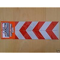 Folie - Set de placas de marcación (4 unidades, superficie adhesiva, diseño reflectante, 30 x 5 cm)