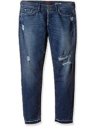 7 For All Mankind Josie Crop Unrolled - Jeans - Boyfriend - Femme