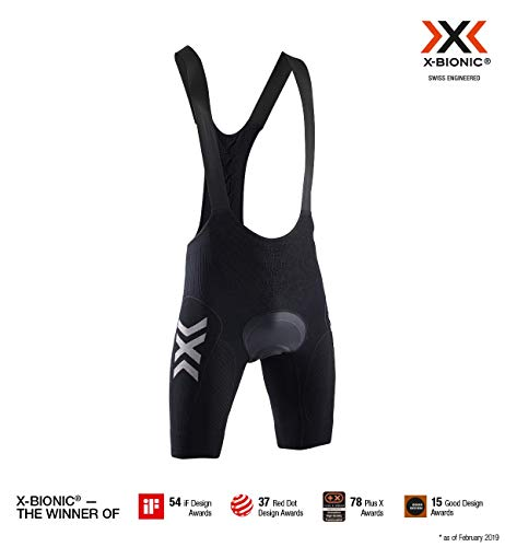 Herren-bike-bib (X-Bionic Herren Twyce 4.0 Bib Shorts, black melange, L)