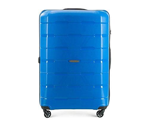 WITTCHEN Koffer - Weich | 78x55x31cm, 101 L, 4.1 KG | Material: Polypropylen, Blau | Kollektion: Speedster - 56-3T-723-95