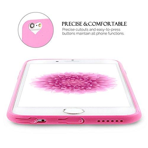 iPhone 6S Plus Hülle, iPhone 6 Plus Silikon Schutzhülle, Anfire Candy Handy Case Hülle für Apple iPhone 6S Plus / 6 Plus (5.5 Zoll) Liebe Herz Muster Weich TPU Silikon Schutzhülle Schön Muster Schale  Heißes Rosa