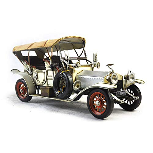 VJUKUB Retro 1920 Rolls Royce Sportwagen Modell Iron Art Heim Autodekoration Dekoration Arrangement Foto-Requisiten 31 * 14 * 15Cm