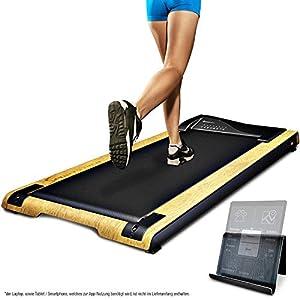 DESKFIT DFT200 Laufband für/unter Schreibtisch – fit und gesund im Büro & zu Hause. Bewegen und ergonomisches Arbeiten, Keine Rückenschmerzen – mit praktischer Tablet-Halterung, Fernbedienung und App