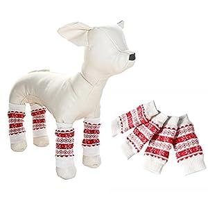 Animaux de Noël de chien Chaussettes chevilles chaudes mignonnes Chien antidérapant Chauffe-pieds