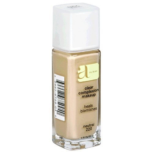 Almay Clear Complexion Makeup, Neutral 220, 1-Ounce Bottles (Pack of 2) by Almay (English Manual)
