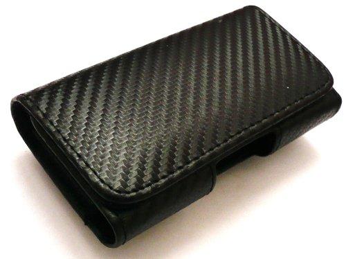Emartbuy  Weave Modello Sony Xperia T Compatibile Pu Custodia Orizzontale In Pelle Nera/Case (Taglia Xxl) Con Clip Da Cintura