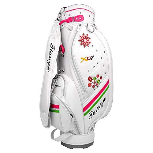 LXYIUN Golftasche Golfbag Modell,Cart Bag Waterproof Golf-Set mit Golftasche Weiß