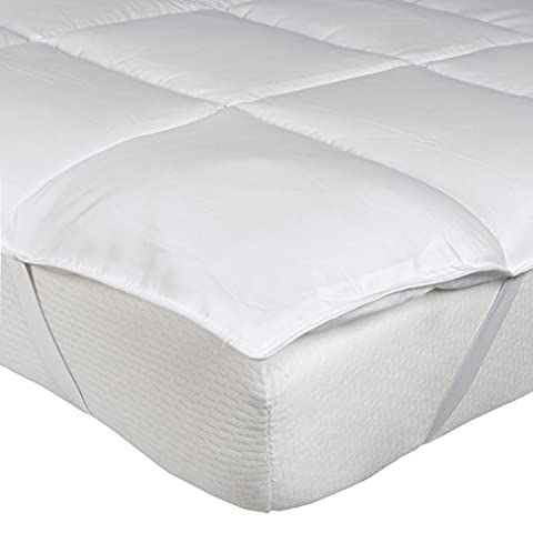 Homescapes - Super Microfibre Mattress Topper - Single - Ultra soft Down like Protector - Anti Dust Mite - Wash at Home - 5* Hotel Quality