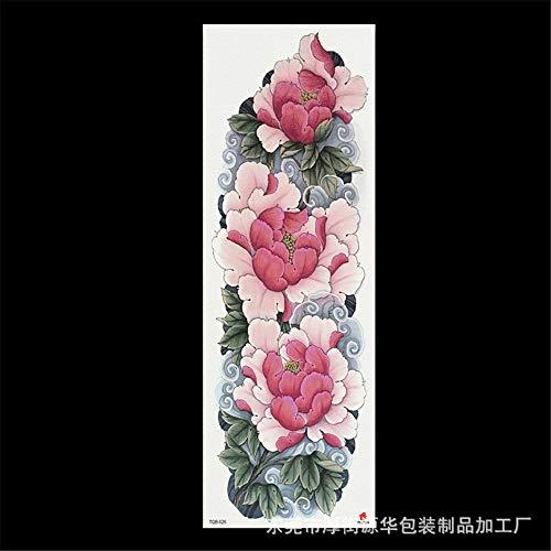 zgmtj 2019 nouveaux autocollants de tatouage de Bras de Fleur imperméable Grande Image TQB-026 170 * 480MM