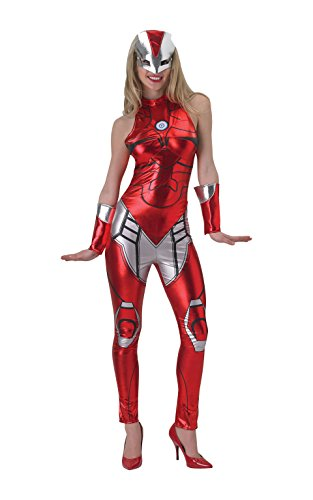 Damen Marvel Miss Iron Man Resue Catsuit, Erwachsene Kostüm – Extra klein 6-8 (Frauen Iron Man Kostüm)