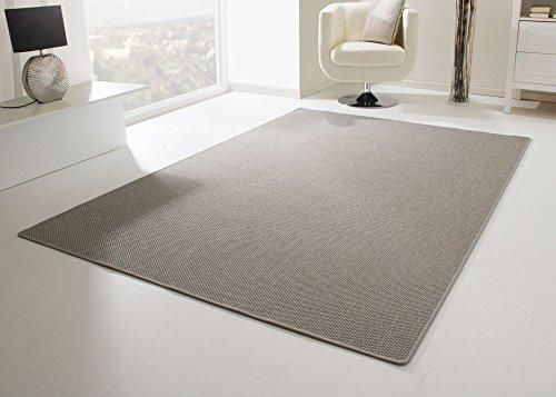 Designer Teppich Modern Viborg Küchenteppich in Silber grau, Größe: 80x300 cm