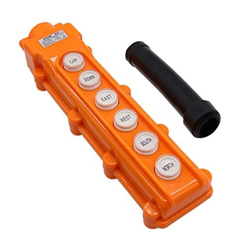 perfk Hebebühne Drucktaster Schalter, Steuerung Schalter für Hebezeug Kran, 6 Tasten