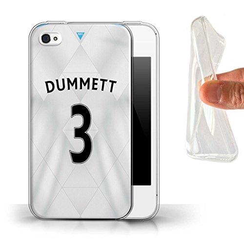 Offiziell Newcastle United FC Hülle / Gel TPU Case für Apple iPhone 4/4S / Pack 29pcs Muster / NUFC Trikot Away 15/16 Kollektion Dummett